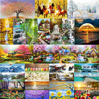 5D DIY Full Drill Diamond Painting Scenery Cross Stitch Craft Kit Home Wall Arts