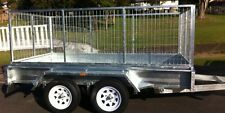 NEW GAL DUAL AXLE HEAVY DUTY CAGED TRAILER...