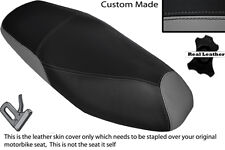 GREY & BLACK CUSTOM FITS PEUGEOT TWEET 125 X 11-14 DUAL LEATHER SEAT COVER