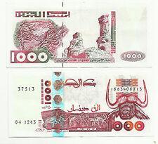 ALGERIA 1000 DINARS 1998 P 142 XF++. 4RW 12ABRIL
