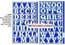Slaters 1116 - 16mm High SM32 Gauge Alphabet Letters White Plastic 1st Clas Post