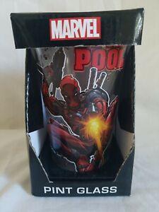 Marvel Comics DEADPOOL 16 Oz Pint Glass Tumbler NEW x-men