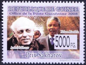 Guinea 2008 MNH, Andrei Sakharov & N Mandela - Nobel Peace winner -
