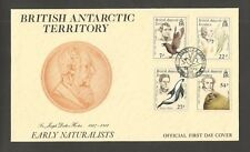 B.A.T 1985 EARLY NATURALISTS FDC SG,143-146 LOT 5607A
