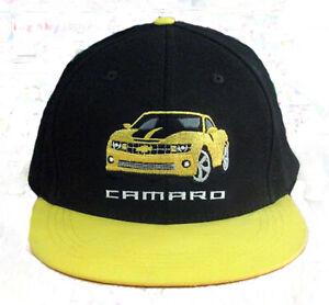 CAMARO EMBROIDERED IMAGE FLAT BRIM FLEX FIT  CAP- Size S