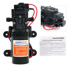 12V DC 1.2 GPM 35 PSI 21-Series Diaphragm Water Pressure Pump for Boats,Caravans