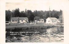 C95/ Walker Minnesota Mn Photo RPPC Postcard c50s Pine Cone Resort Leech Lake 2