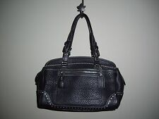 AUTHENTIC COACH 5031 Black Soft Pebbled Leather Handbag/Satchel with hang tag