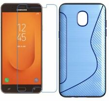 BLUE S-LINE TPU CASE + CLEAR SCREEN PROTECTOR FOR SAMSUNG GALAXY J7 STAR,J7 2018