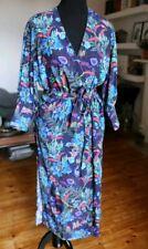 H&M Trend Navy Floral Wrap Midi Dress 16 14 Bnwt