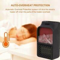 500W MINI Portable Ceramic Heater Electric Cooler Hot Home Winter Warmer Fa N8H2