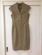 David Lawrence Beige Button Shirt Dress Sleeveless Career Size 10 EUC