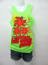 DY*14 FULL MOON PARTY NIGHT MUSIC SINGLET LANDMARK THAILAND NEON TANK TOP DRINK