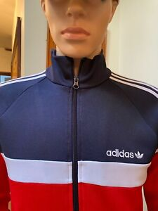 Adidas Tracksuit Jacket Red White Blue Size XS Great condition