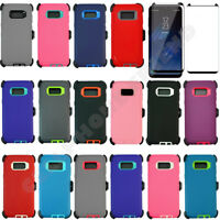Samsung Galaxy S8 /S8+ Defender Case w/Tempered Glass Screen & Clip Fit Otterbox