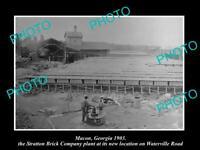 OLD POSTCARD SIZE PHOTO OF MACON GEORGIA THE STRATTON BRICK Co PLANT c1903