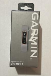 Garmin vívosmart 4, Activity and Fitness Tracker - Rose Gold w/ Gray Band S-M