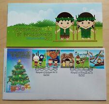 2012 Malaysia Malaysian Festivals Series II, 5v Stamp FDC (Melaka Cachet)