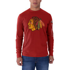 Chicago Blackhawks '47 Brand Red All Pro Long Sleeve Scrum T-Shirt