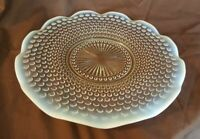 Anchor Hocking Moonstone Hobnail Opalescent Round Platter Serving Tray