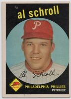 1959 Topps #546 Al Schroll EX/EX+ Philadelphia Phillies High # FREE SHIPPING