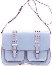 REBECCA MINKOFF LARGE ALEX  SKY LIGHT BLUE  LEATHER CROSS BODY COMPUTER BAG NEW