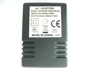 300ma 24v Socket AC-DC (DC Output) Power Adaptor/Supply/Charger 0.3a 7.2w 7.2va