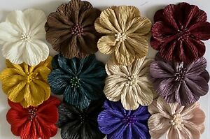 Handmade Polyester Flower Shoes Clothes Hair Décor 8.5 cm Diameter