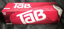 Tab Cola 12-Pack TAB Soda Soft Drinks Unopened Discontinued Cherry Cola 🔥