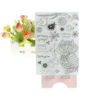 Owl DIY Transparent Silicone Clear Stamps/seal Scrapbooking Album Cards Decor PT