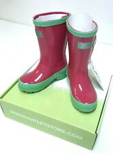 Hatley Little Kids Splash Rain Boots -Pink and Green Size 8 Rain Accessory