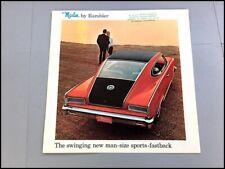 1965 Rambler Marlin Vintage Original Car Sales Brochure Catalog