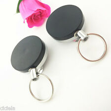 1Pc Retractable Key Chain Recoil Ring Belt Clip Ski Pass ID Holder Accessories