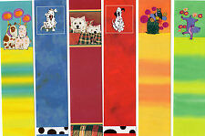 6x Bookmarks Yorkshire Terrier Dalmatian Dog Puppy Birthday Party Boy Gifts Lot