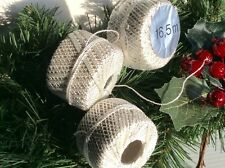 "6 ""SILVER"" GLITTER CORD-STRING. CHRISTMAS  CRAFTS-WRAPPING-BAUBLES.16.5m x 2mm"
