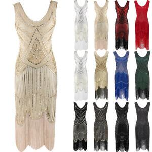 Ro Rox 1920's Sequin Fringe Cocktail Party Great Gatsby Costume Flapper Dress