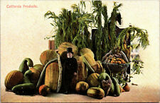 California Products Produce Fruit Vegetables Vintage Postcard