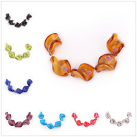 Lampwork Glass Flower Leaf Loose Spacer Beads Jewelry Making Finding Bead 20mm