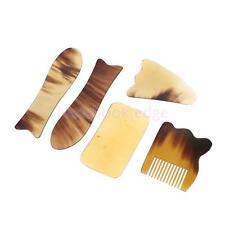 5 Traditional Acupuncture Massage Natural Comb Board Tool Set For Gua Sha Guasha