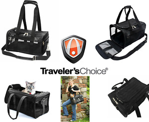 """Traveler's Choice Black 14"""" Carry-On Pet-Friendly Dog Cat Carrier Tote Board Bag"""