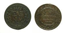 pci3430) Regno di Sardegna Carlo Felice - 5 cent 1826  TO RARO gig. 108  carenze