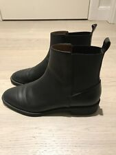 & Other Stories Black Chelsea Leather Ankle Boots Excellent Condition UK 6 EU 39