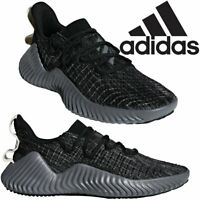 Mens Adidas Sports Alphabounce Running Trainers Sport Pull On Shoes