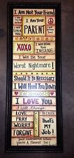 Not your Friend Parent Sign will Love Lecture Stalk you wall hanging teenagers