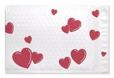 "250 #0 Heart Poly Bubble Padded Mailers 6.25"" x 9.25"""