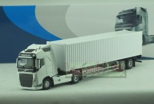 1:50 Scale VOLVO GLOBETROTTER FH White Tractor Trailer Truck DieCast