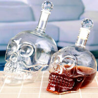 4 Size Crystal Skull Head Vodka Shot Whiskey Wine Drinking Glass Bottle Decanter