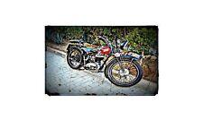 1911 Peugeot P111 Bike Motorcycle A4 Retro Metal Sign Aluminium