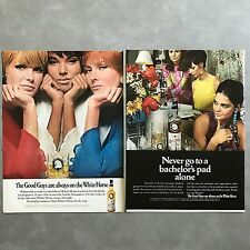 1966 - 1968 White Horse Scotch Whisky Vintage Photo Print Ad Lot of 6 Different