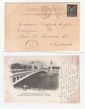 39) 1900 World Exhibition during Olympic Games card machine cancel Paris Expo